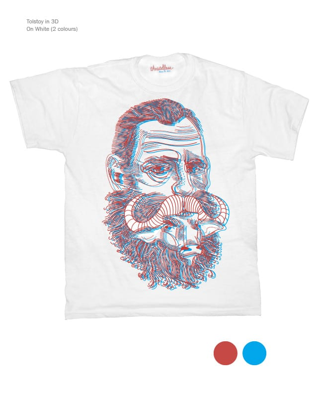 Tolstoy in 3D by orangehead on Threadless