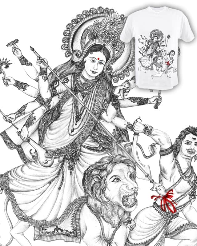 Goddess durga killed mahishasura by hemali on threadless