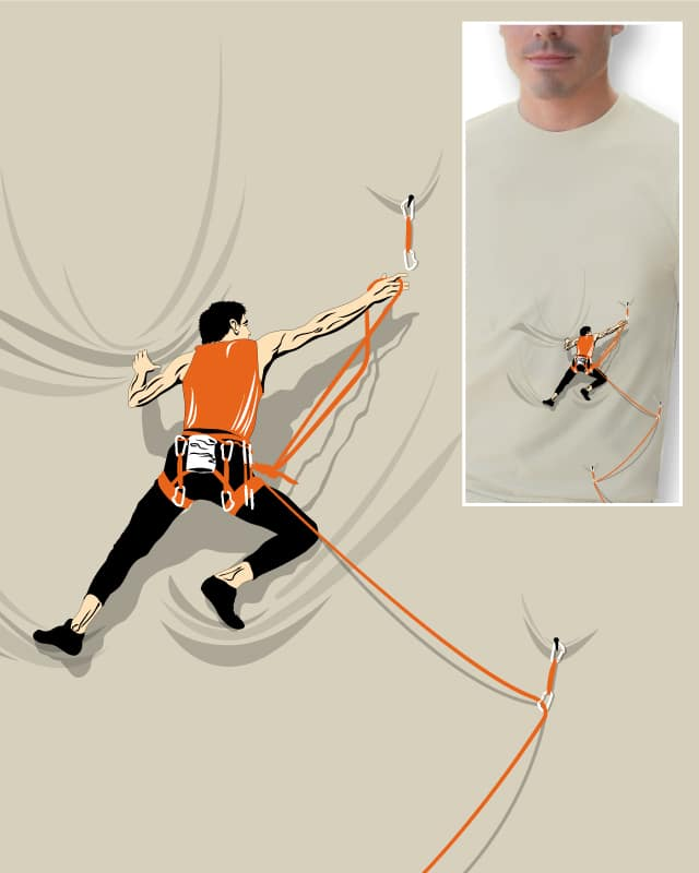 score shirt climbing by lawrence loh on threadless. Black Bedroom Furniture Sets. Home Design Ideas