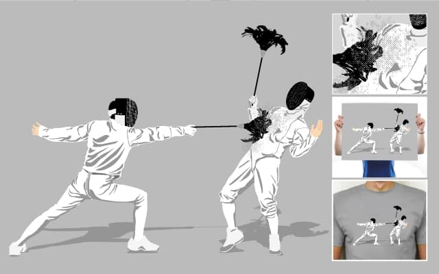 dusty fencing by lawrence loh on Threadless