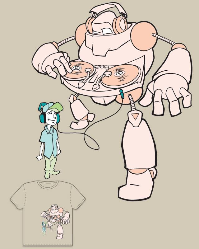 ScratchBot by solitaryone on Threadless