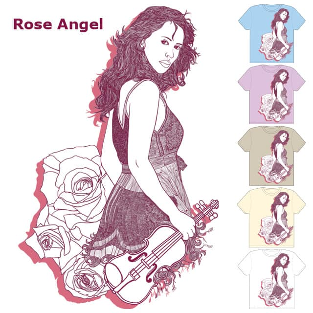 Rose Angel by tamaow on Threadless