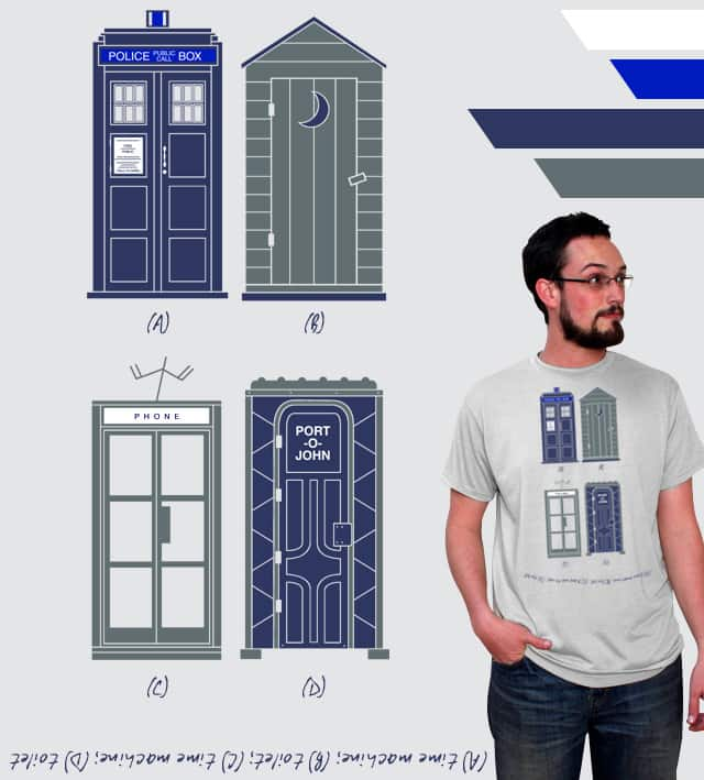 Toilet or Time Machine? by Fourcolours on Threadless
