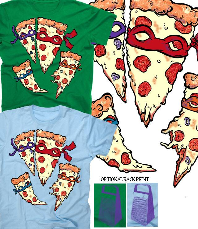 Cowabunga Pizza by atomicchild on Threadless