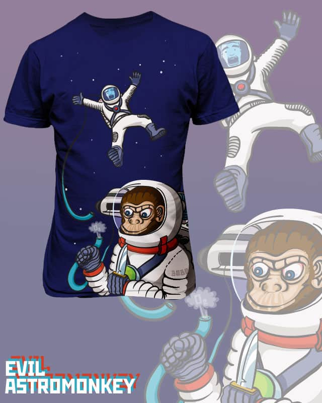 Evil Astromonkey by whirzle1 on Threadless