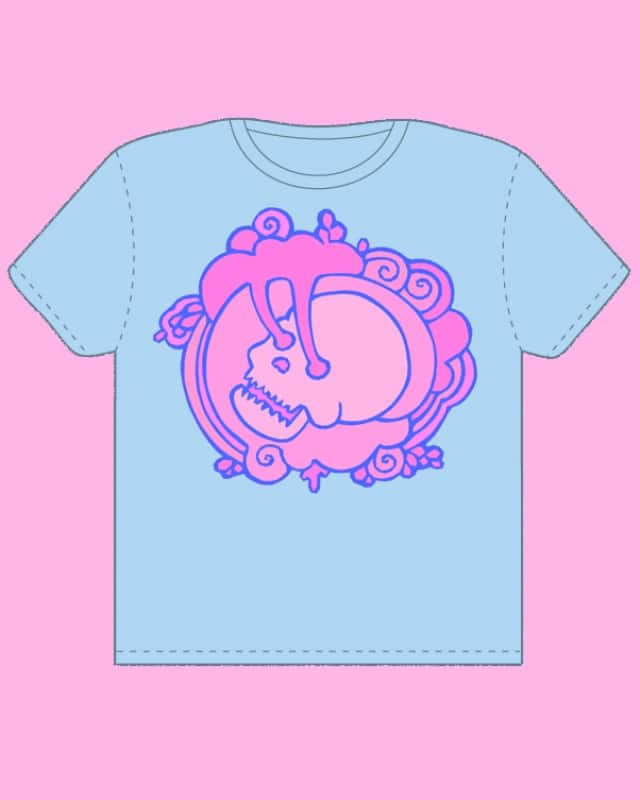 pink skull by sweet n sour on Threadless