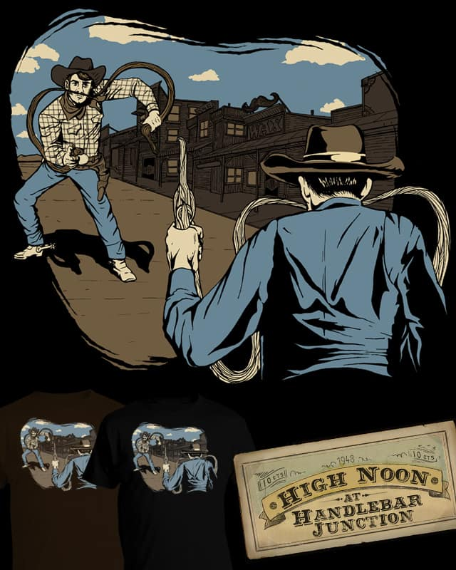 High Noon at Handlebar Junction by everything on Threadless