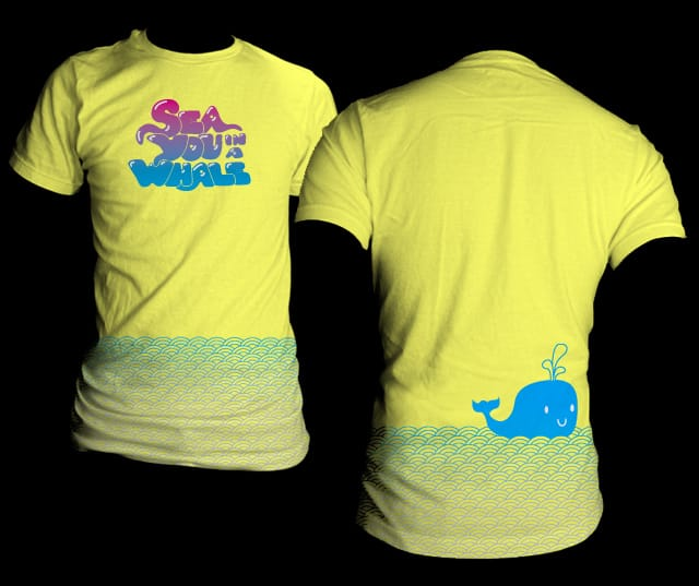 Sea you in a whale by Santo76 on Threadless