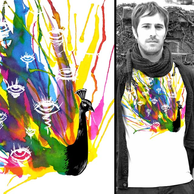 Colorful Peacock by tobiasfonseca on Threadless