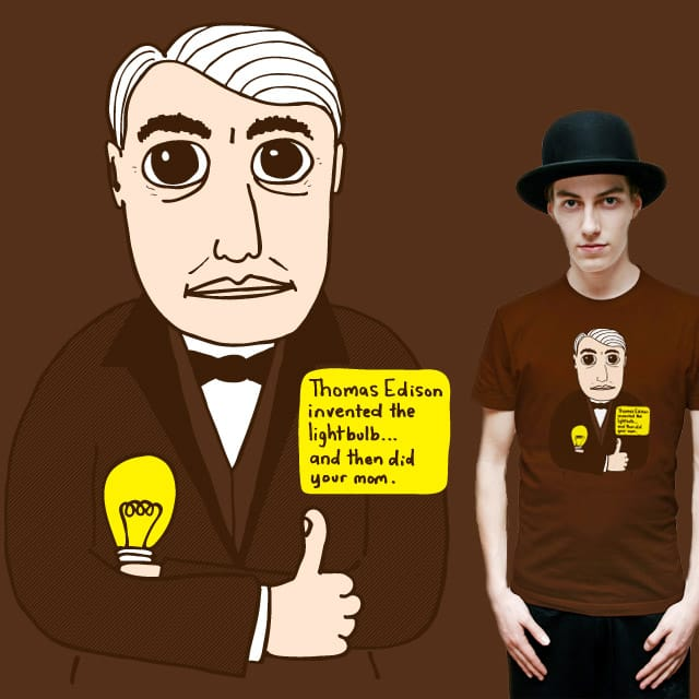 Thomas Edison by letsmakeart on Threadless