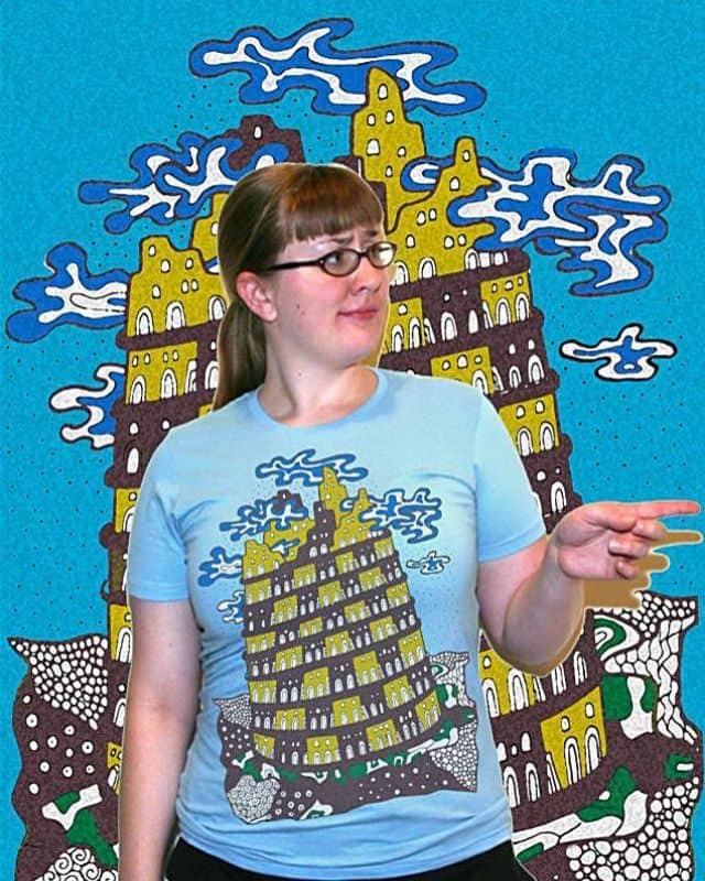 Flying Tower by ArTrOcItY on Threadless