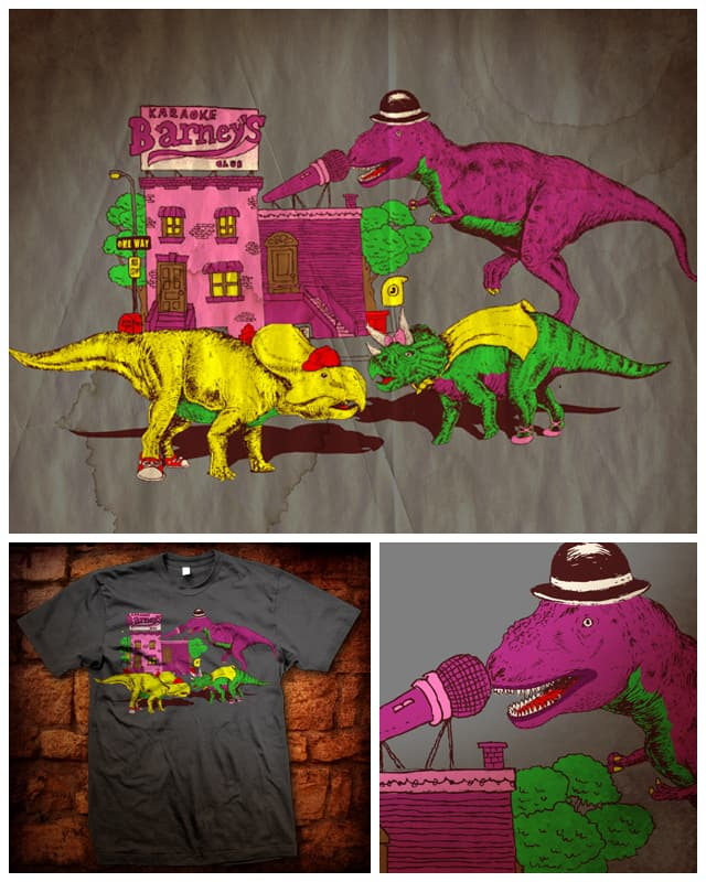 Karaokesaurus by kooky love on Threadless