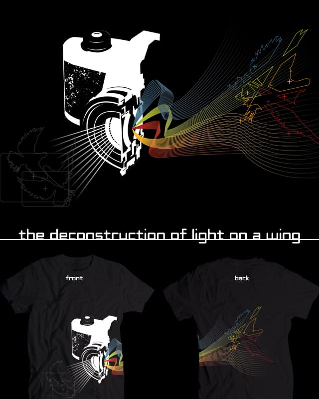 the deconstruction of ligt on a wing by jrmasm on Threadless