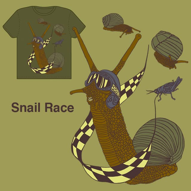 Snail Race by tamaow on Threadless