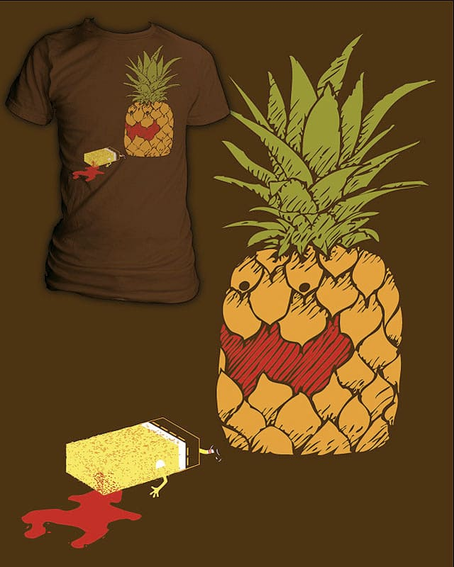 Killed by a pineapple under the sea... by EricDiaz on Threadless