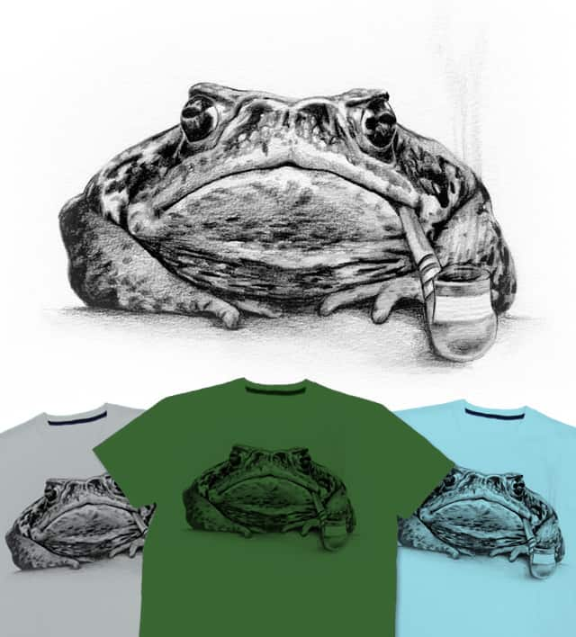 SMOKING TOAD by CURLYCREATIVE on Threadless