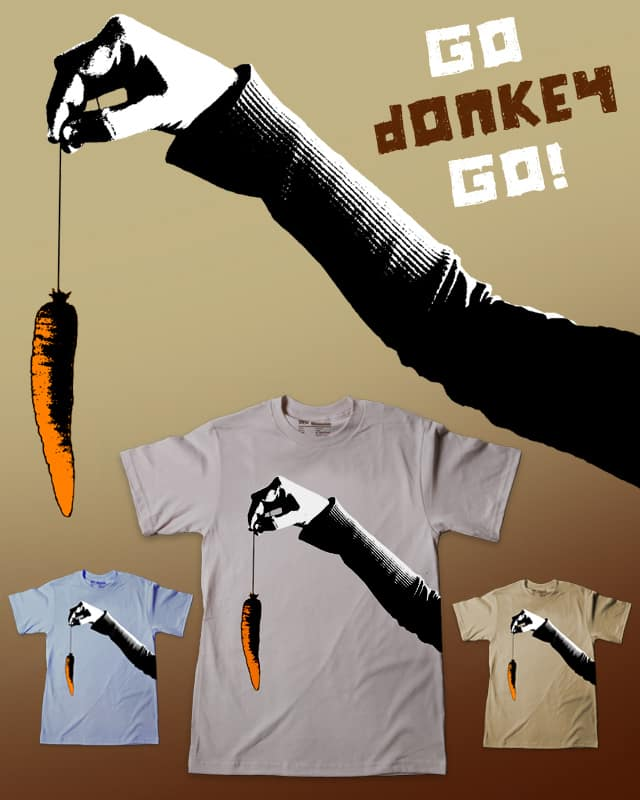 Go Donkey Go! by sustici on Threadless