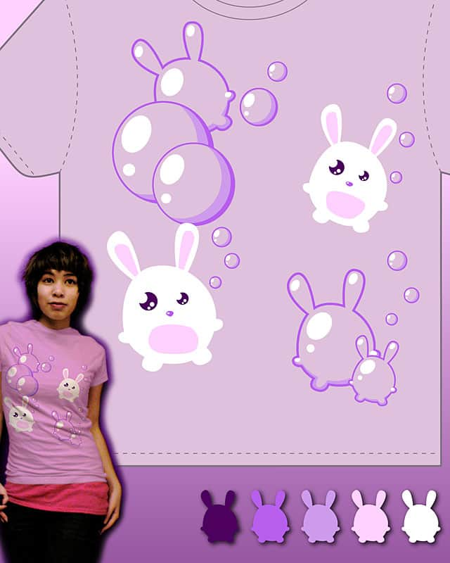 Bubble Bunny Bop by rycz on Threadless