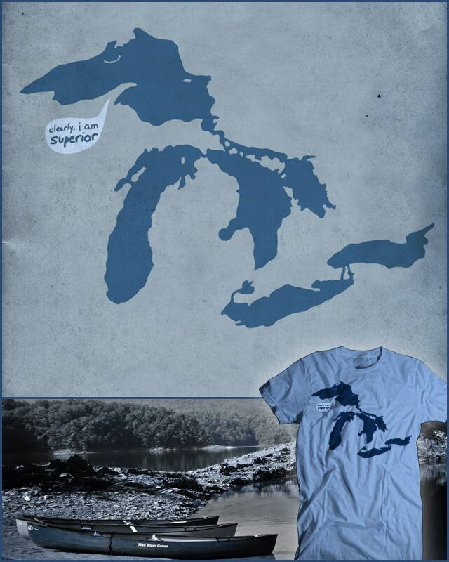 this is a joke involving the great lakes by bsweber on Threadless