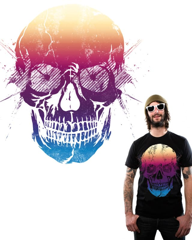 Skull in colors. by heat. on Threadless