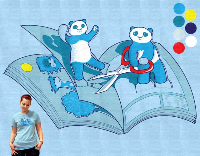 Pop-up Pandamonium! by Chris Rowson on Threadless