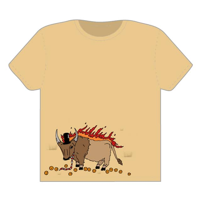 The tale of the legendary flaming buffalo by randyotter3000 on Threadless