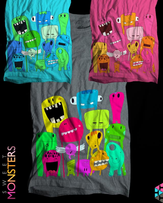 Sweet Monsters by aleksandartopic on Threadless