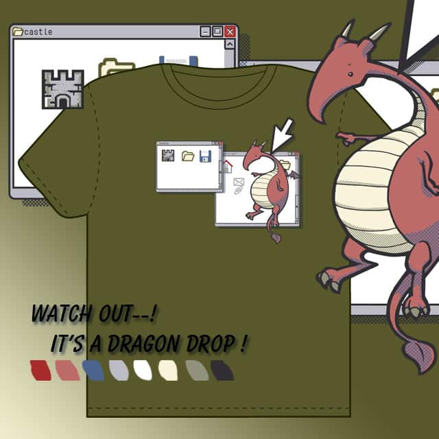 Dragon Drop! by sketchboy01 on Threadless