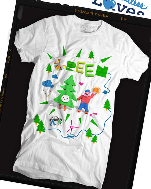 GREEN! by Monkey III on Threadless