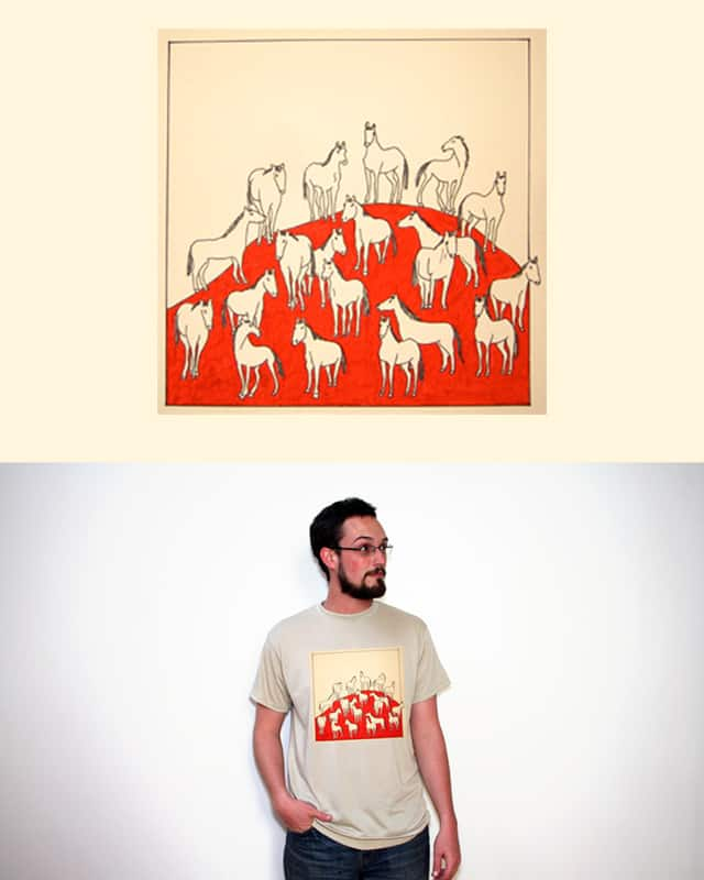 White Horses by Freddie Mokuyobi on Threadless