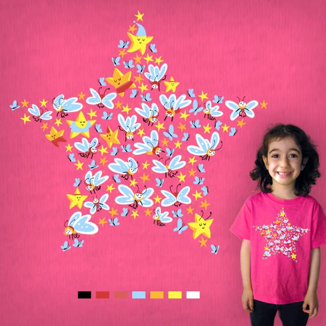 Butterfly Star! by Mike Laughead on Threadless