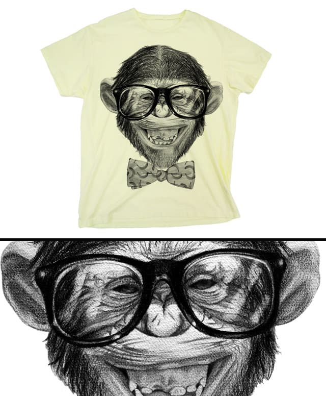 Chimp Grin by CURLYCREATIVE on Threadless