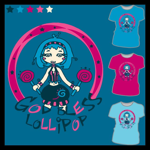 God Bless Lollipop by Lolita Tequila on Threadless
