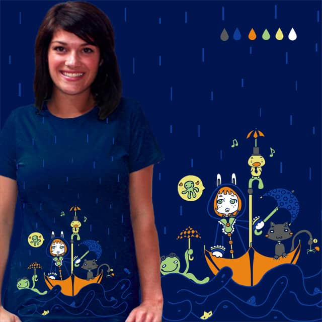 Friends and Rain by Lolita Tequila on Threadless
