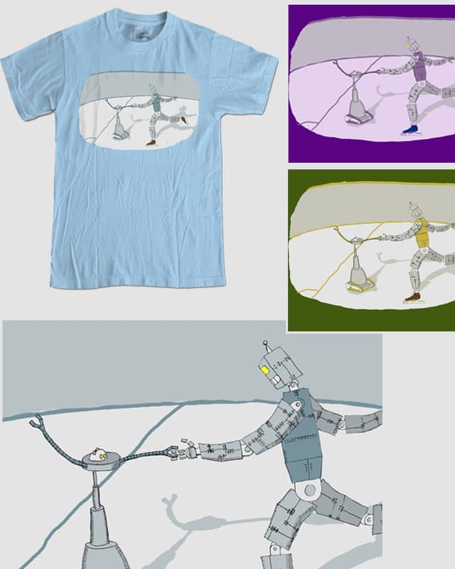Ice Dancing Robots by Steve The Great on Threadless