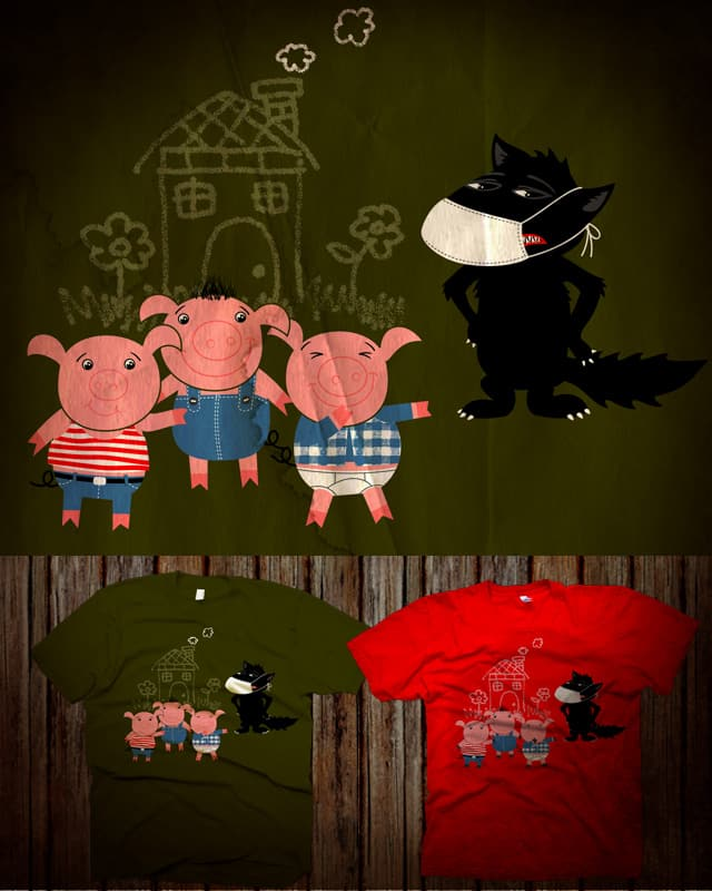 3 Little Swine by kooky love on Threadless