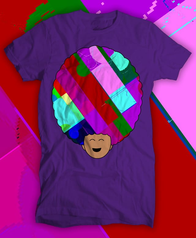 Glitch afro by stalliongsta on Threadless