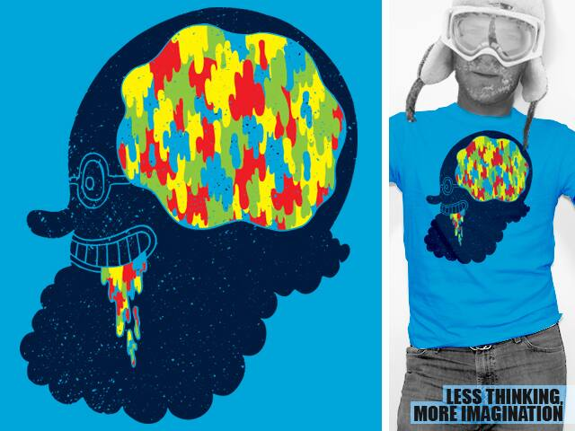 Less Thinking, More Imaginaton by WanderingBert on Threadless