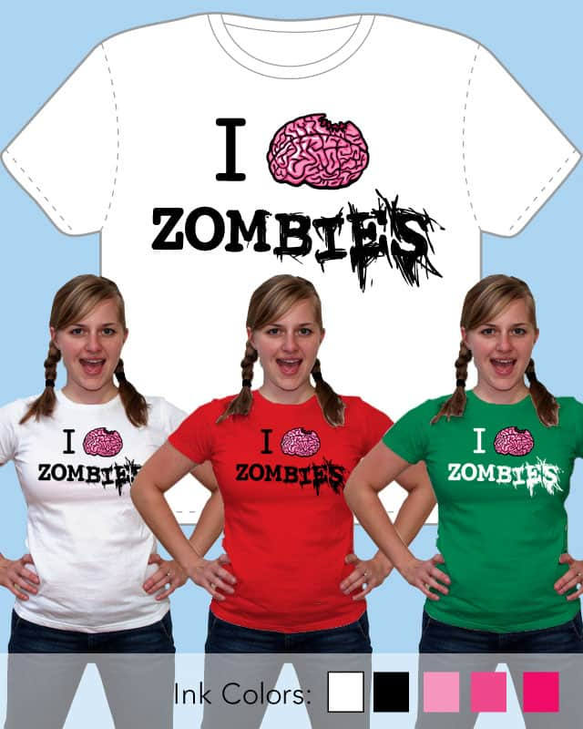 I Brain Zombies by nickv47 on Threadless