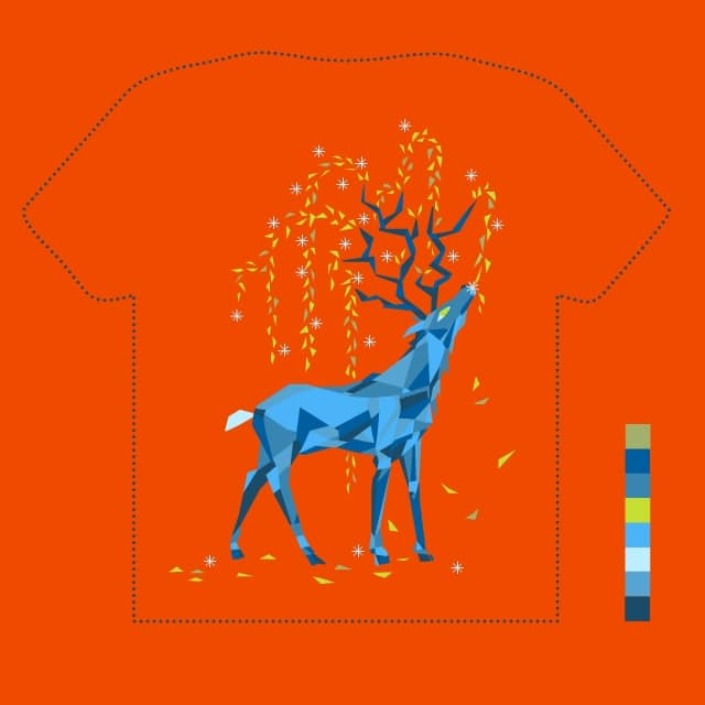 Cerf by salut_charlie on Threadless