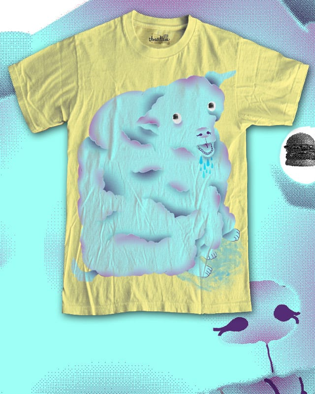 cotton candy dog wishes for burgers by ginetteginette on Threadless