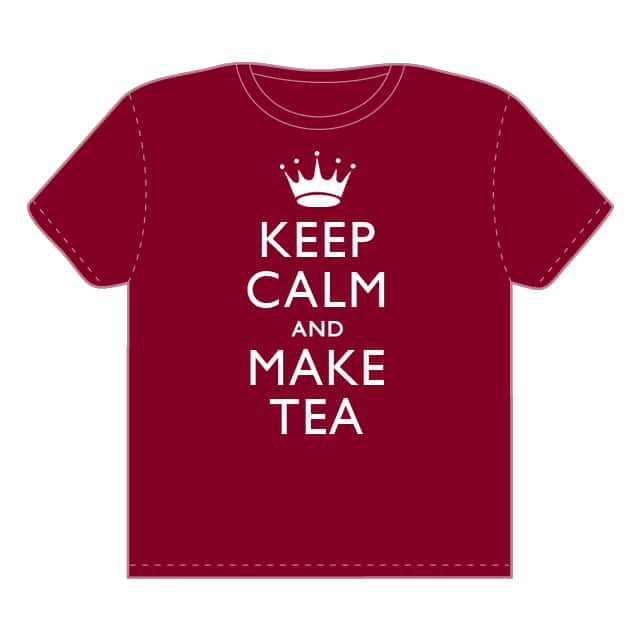 KEEP CALM AND MAKE TEA by davidgillett on Threadless