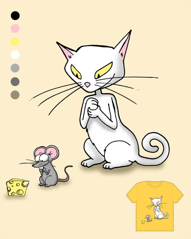 cat, mouse and mmh cheese by Noretta on Threadless