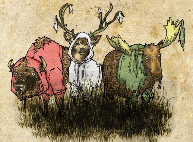 Hoods in the woods by Ivantobealone on Threadless