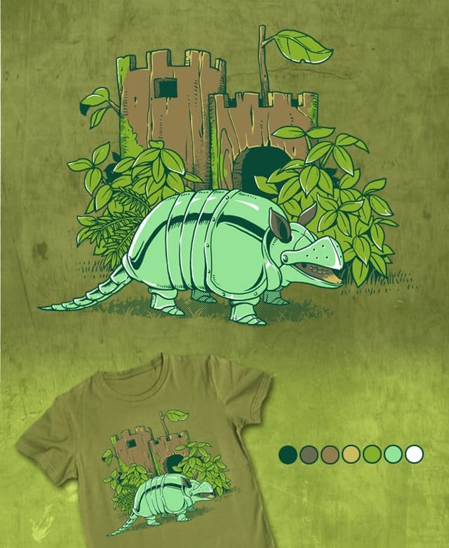Medieval Pangolin's Armor by ben chen on Threadless