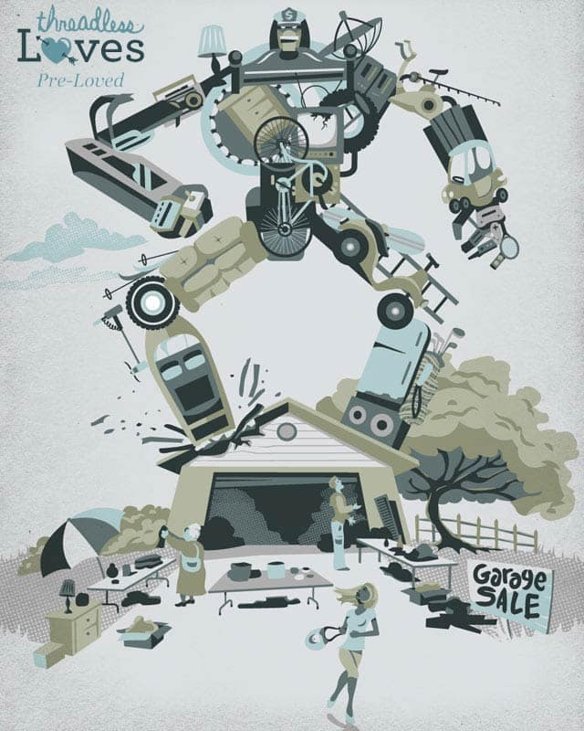Bargain Bot by Link Design on Threadless