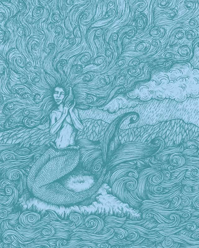The Mermaid Listens by KDLIG on Threadless