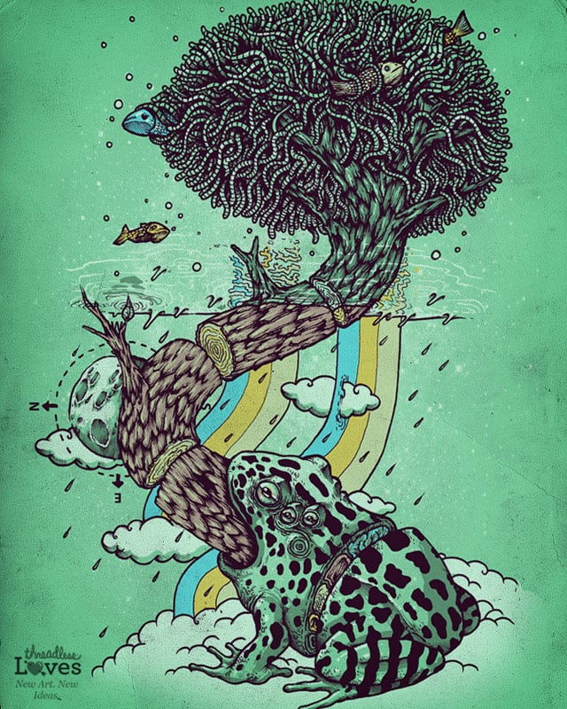 Tree Frog by alexmdc on Threadless