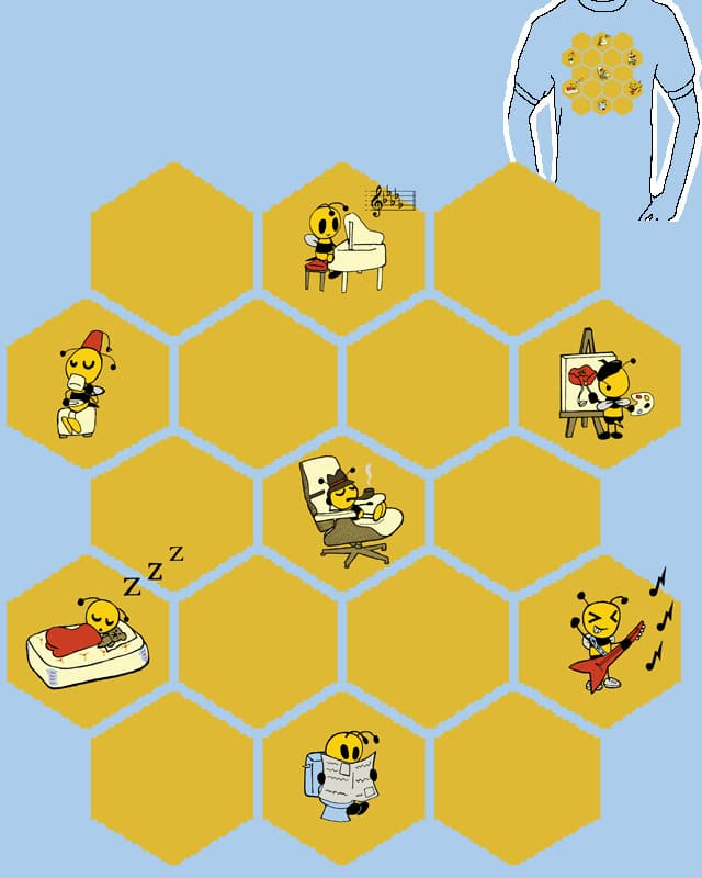 Bee Flats by renfrue on Threadless