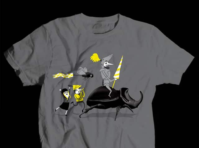 Rhinoceros Beetle Knight by Aphte on Threadless